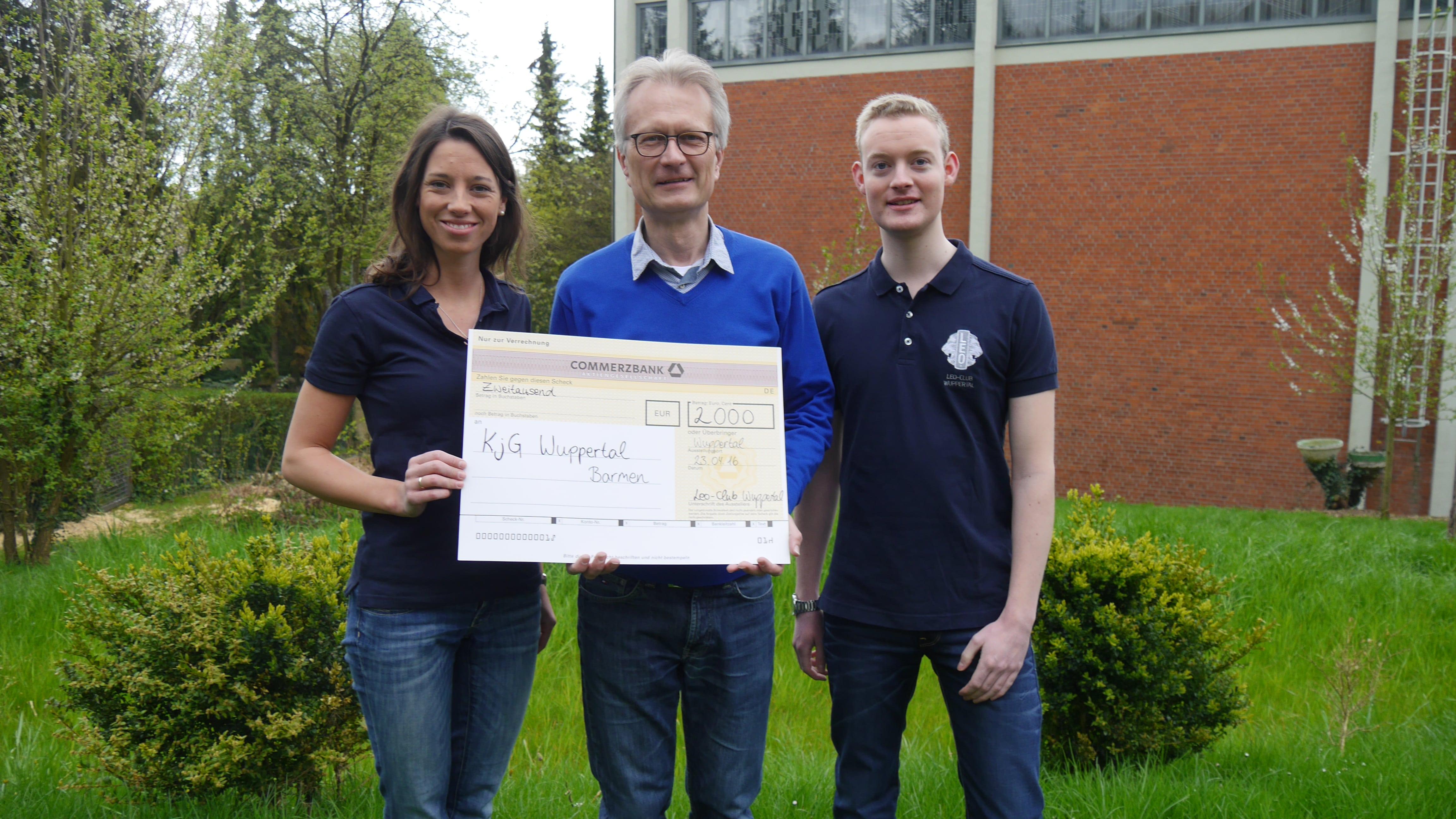 Leo-Club Wuppertal unterstützt das Sommerlager der KjG Wuppertal-Barmen mit 2000€